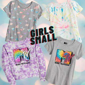 4 Piece Bundle T-Shirts MTV ,Tie Dyed, Unicorns